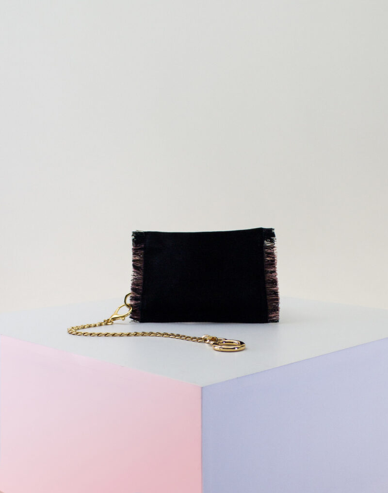 black rose gold zip pouch