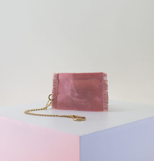 pink rose gold zip pouch