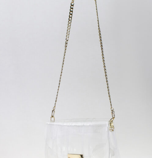 hanging small clear bag front
