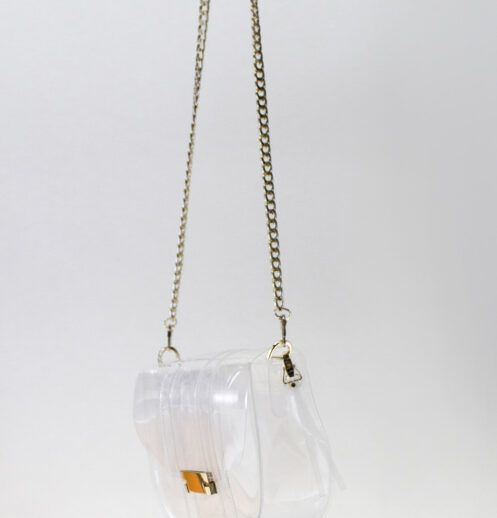 hanging small clear bag side