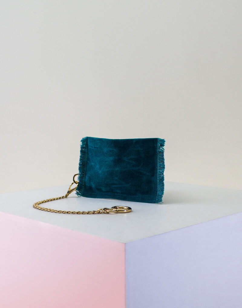 teal zip pouch