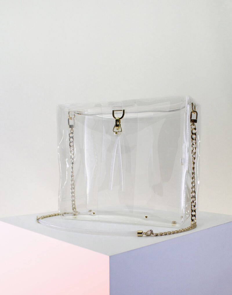 boxy zipper clear bag front