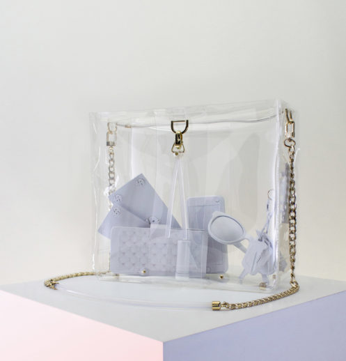 large clear bag with contents