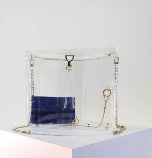 clear zipper bag with zip pouch
